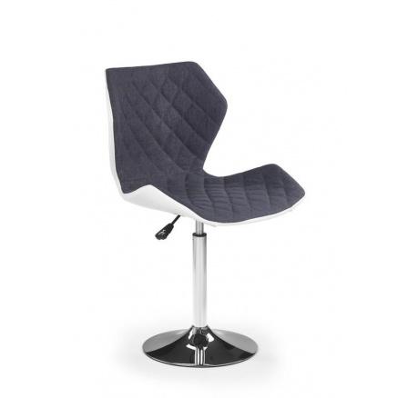 Dětská židle MATRIX 2 bílá/šedá