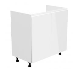 Kuchyňská dolní skřínka - ASPEN D80Z, bílý lesk