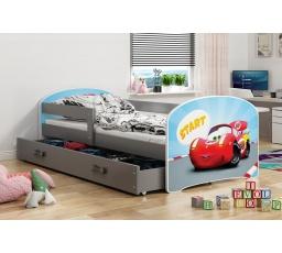Dětská postel Luki - Grafit (Autíčko) 160x80 cm