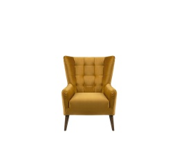 CASEY ES - křeslo, Riviera 41 yellow, dřevo TX061 (BRW COMFORT) (FL10-K1230)