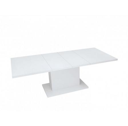 Jídelní stůl TRAWERS 2W,  bílá alpská