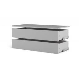 Velké zásuvky s policí Lutta 156 silver grey