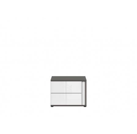 Noční stolek GRAPHIC S343 KOM2SL/A šedý wolfram/bíllý lesk