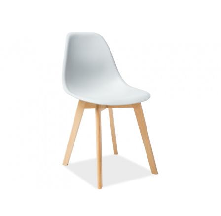 Jídelní židle MORIS, sv. šedá/buk