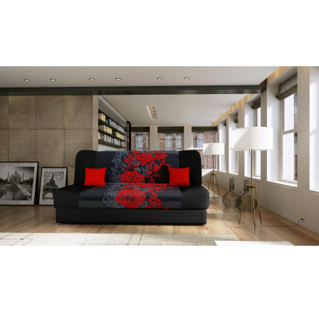 Pohovka Jasmín - červený květ