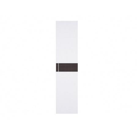 WEKTRA F2 dveře bílá/wenge (vroubkovaný proužek)