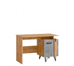 Psací stůl LOFTER - LO9, Dub Wotan + Beton Millenium