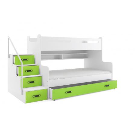 Patrová postel BMS, MAX 3 zelená