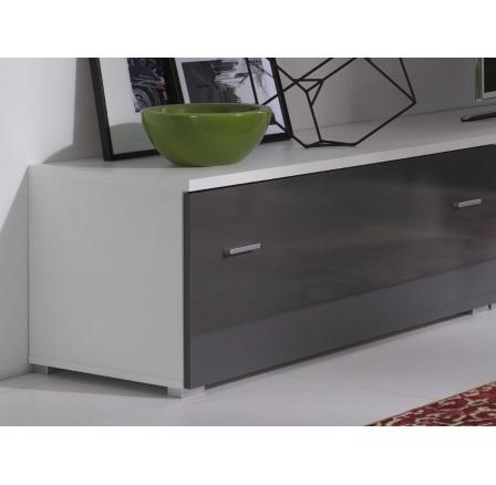 TV stolek Wenecja R5 bílá/grafit lesk