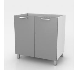 Dřezová kuchyňská skříňka Natanya ZL802D šedý lesk