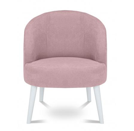 BONI ES - křeslo, Soro 61 pink, dřevo TX057 bílá (BRW COMFORT) (FL VIII-K1230)