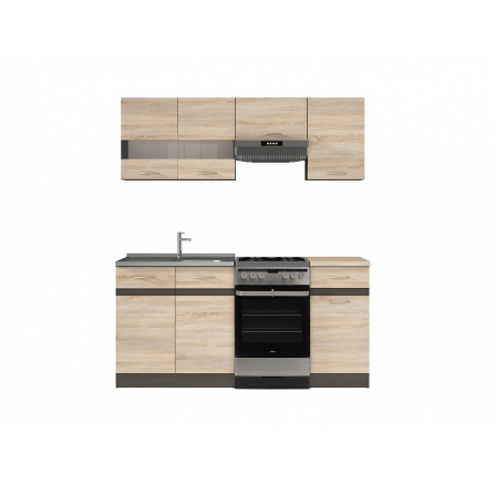Kuchyň Junona Modul 170, wenge/dub sonoma