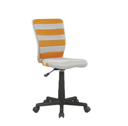 Dětská židle FUEGO /šedá+oranžová