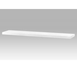 Nástěnná polička 120cm, barva bílá - vysoký lesk. Baleno v ochranné fólii.