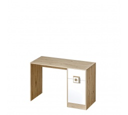 NIKOS 10 - Psací stůl (NICO 10) - bílá/dub světlý- úchyt dub světlý (DO) (K150-Z)