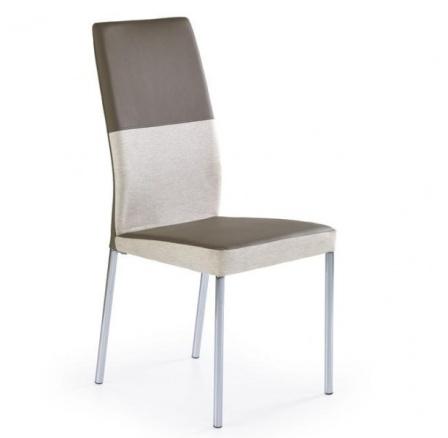 Jídelní židle K-173, Béžová/Hnědá