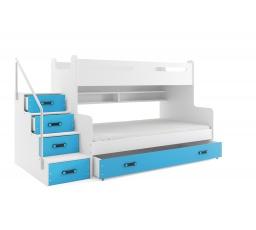 Patrová postel MAX3 Modrá