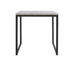 stolek AROZ LAW/50 beton chicago světle šedý/černý kovový rám