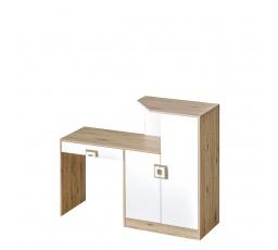 NIKOS 11 - Psací stůl s komodou (NICO 11) - bílá/dub světlý - úchyt dub světlý (DO) (K150-Z)