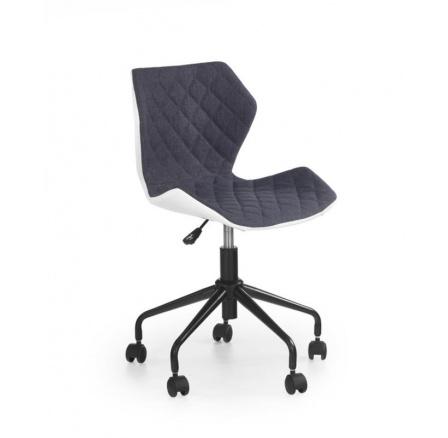 Dětská židle MATRIX bílá/šedá