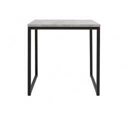 stolek AROZ LAW/40 beton chicago světle šedý/černý kovový rám