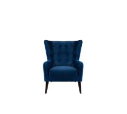 CASEY ES - křeslo, Riviera 81 blue, dřevo TX023 wenge (BRW COMFORT) (FL10-K1230)