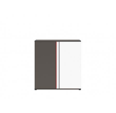 GRAPHIC (S343) KOM2D/B šedý wolfram/bílá/červená