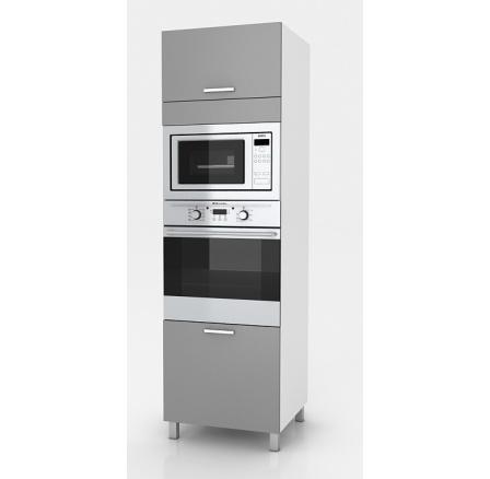 Vysoká kuchyňská skříňka Natanya SP bílý lesk