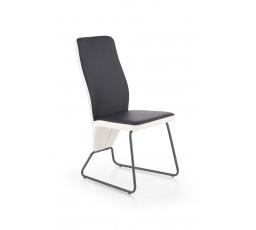 K300 krzesło tył - biały, przód - czarny, stelaż - super grey (2p=4szt)