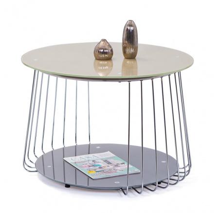 Konferenční stůl RIVA /béžová+šedá