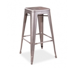 Barová židle LONG stříbrná - matná