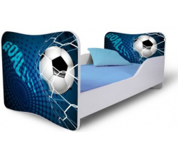 Dětská postel FOTBAL modrá 180x80 cm