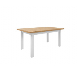 ERLA STO (stůl) bílá/dub minerva