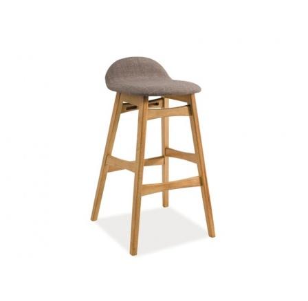 Barová židle TRENTO šedá / dub přírodní