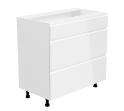 Kuchyňská dolní skřínka - ASPEN D80S3, bílý lesk