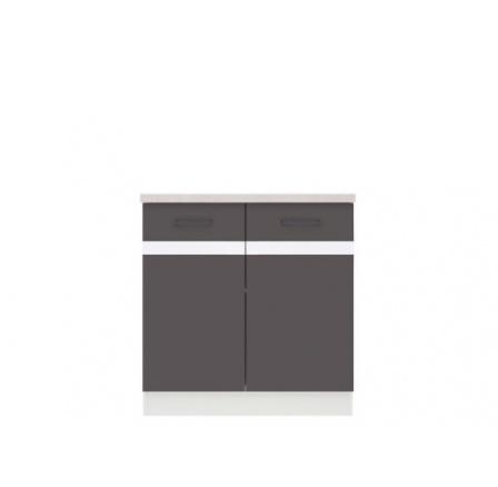 skříňka Junona Line D2D/80/82, Bílá/šedý wolfram