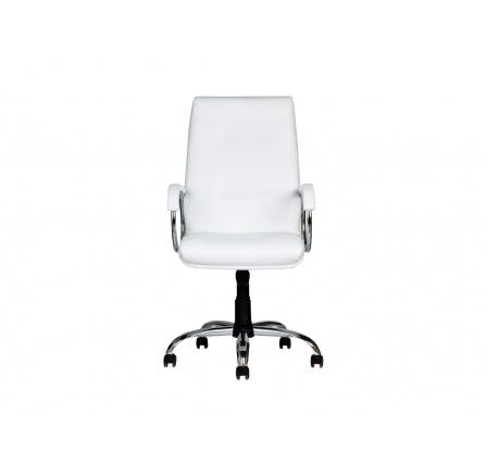 židle VENOM chrom, bílá