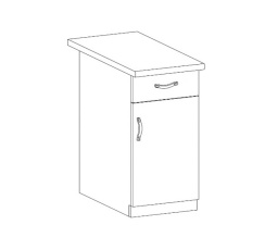 ROYAL  - dolní skříňka 40cm D40S1