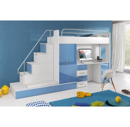 Postel PARADISE 5 - modrá
