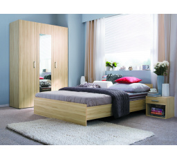 lož.VERA (LIBERA) buk tatra KOMPLET ( postel, skříň, 2 noční stolky ) bez roštu - SUPERAKCE