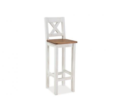 Barová židle Poprad H-1 borovice patina