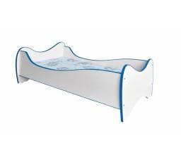 Dětská postel DUO Bílá/Modrá