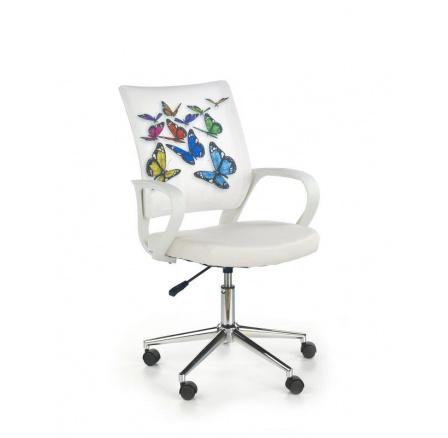 Dětská židle IBIS Butterfly/ bílá