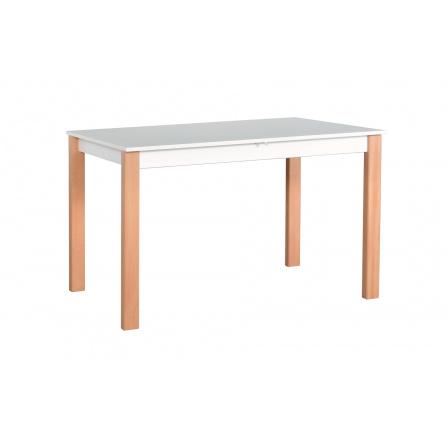 """ALBATROS 1 (ALBA 1) jídelní stůl rozkládací -bílá deska nohy přírodní buk- kolekce """"DRE"""" (Z)"""