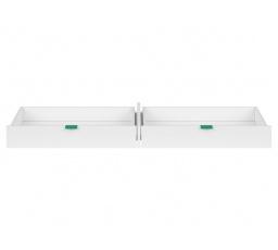 PRINCETON SZU/BIU (šuplík do psacího stolu) bílý lesk/zelená