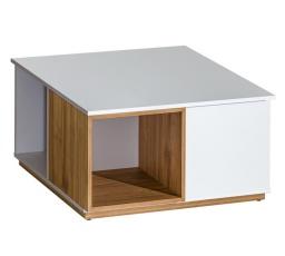 Konferenční stůl EVADO E13 /Briliantovábílá / výběrový ořech