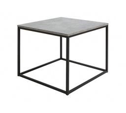 stolek AROZ LAW/69 beton chicago světle šedý/černý kovový rám