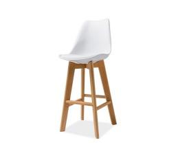 Barová židle KRIS H-1 bílá