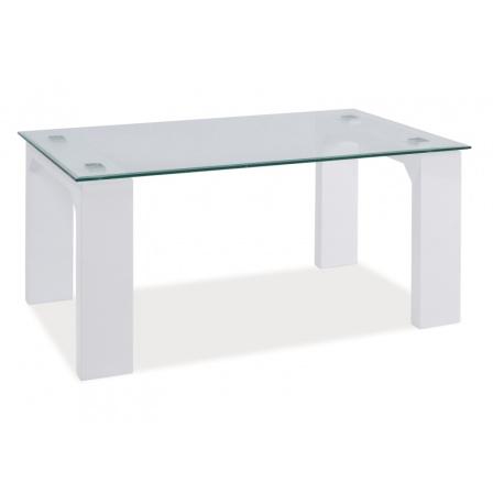 Konferenční stůl SCARLET bílý / sklo