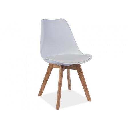 Jídelní židle KRIS bílá, buk